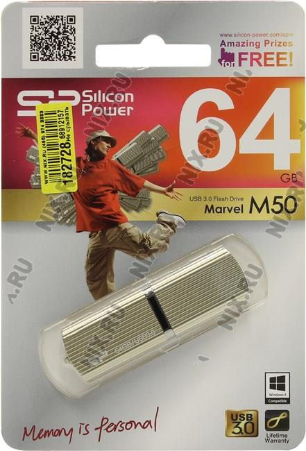 Silicon Power 64Gb SP064GBUF3M50V1C золотистый