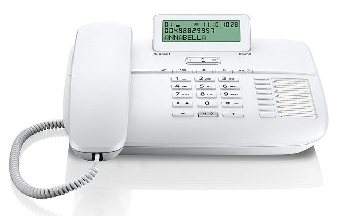 Gigaset DA710 gigaset gigaset ранее siemens бренд 802 домашний офис стационарный телефон черный